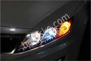 Фары Dual CCFL & LED Line Projection 2 Kia Optima  K5